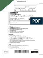 October 2016 (IAL) MS - Unit 1 Edexcel Biology a-level
