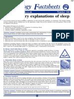 Explanations of Sleep