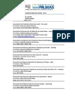 Relação de Associações Rurais de Palmas - Banco de Dados