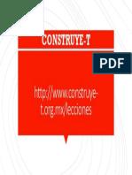 LECCIONES Construye t