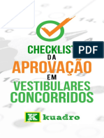 Checklist Da Aprovacao Em Vestibulares Concorridos