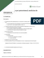Envenenamiento Por Paracetamol, Medicina de Emergencia _ Enfermedades y Condiciones _ 5MinuteConsult