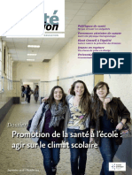 Journal Sante, FRANCE Sep 2018, Promotion de La Sante à l'Ecole , Le Climat Scolaire