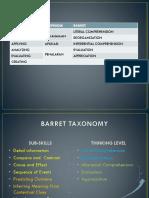 Barret Taxonomy by Dadi