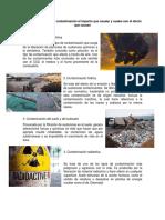 Principales Fuentes de Contaminación El Impacto Que Causan y Cuales Son El Efecto Que Causan