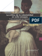 La Critica de La Colonialidad en Ocho Ensayos PDF Subrayado