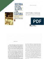 Historia Social Da Arte e Da Cultura 1