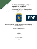 Determinacion de Caudal de Diseño de Una Central Hidroelectrica