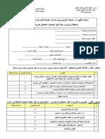 استمارة تقييم أداء الباحث التدريسي في المراكز الخدمية