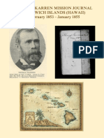 Thomas Karren Journal of his Mission to the Hawaiian Islands 1853-55
