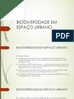 Biodiversidade em espaço Urbano