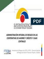 ADMINISTRACION INTEGRAL DE RIESGOS EN LAS COOPERATIVAS DE AHORRO Y CREDITO
