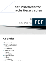Best Practices for Oracle Receivables