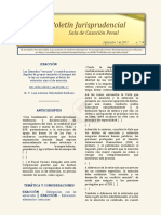 Boletín Jurisprudencial 2017-09-01