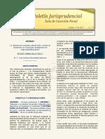 Boletín Jurisprudencial 2017-10-17