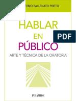 Hablar en Público - Guillermo Ballenato Prieto