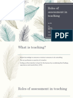 Roles of Assessment in Teaching