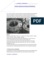 Flange Production and Processing Technology