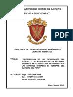 Contribucion de Las Capacidades Del Ejercito y Su Participacion en Acciones Militares