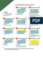 Kalender Akademik 2018/2019