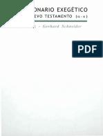 Horst Balz-Gerhard Schneider - Diccionario Exegetico Del N.T Tomo I