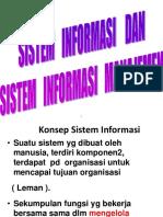 Sistem Informasi Dan Sistem Manajemen