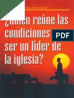 ¿Quien Reune las Condicones  para ser un Lider de la Iglesia.pdf