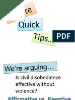 Debate Quick Tips