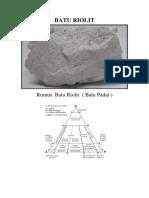 Batu Riolit Dan Rumus Kimianya. Gambar Letusan Gungung