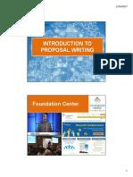 Proposal Writing Presentation