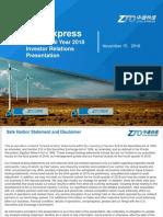 ZTO_IR Presentation Deck 3Q18
