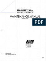 Bear Cub 750 vs Maintenance Manual