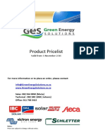 GES Pricelist Solar panel