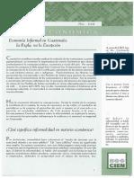 Carta Economica260 Economia Informal en Guatemala La Regla No La Excepcion Junio2006