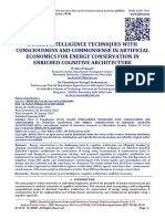 SWARM INTELLIGENCE TECHNIQUES WITH CONSCIOUSNESS AND COMMONSENSE IN ARTIFICIAL ECONOMICS FOR ENERGY CONSERVATION IN ENRICHED COGNITIVE ARCHITECTURE