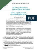 El Papel de Los Profesionales en La Prevencion de Rupturas en Adopcion - Berastegui y Pedro-Viejo