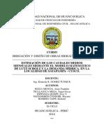 Trabajo de Irrigación y Diseño de Obras Hidráulicas