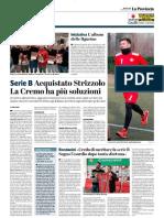 La Provincia Di Cremona 23-01-2019 - Serie B