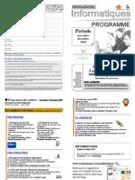 Programme Novembre Decembre 2010