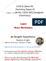 BSc Sem III Unit-I Wave Mechanics