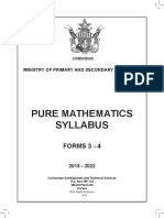 Pure Mathematics Forms 3 4 Min