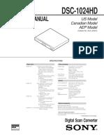 DSC-1024HD - Service Manual