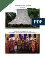 Rumah Adat Dan Pakaian Nusa Tenggara Timur