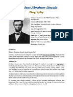 Biography Abraham Lincoln