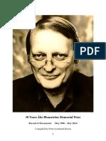 32 Years Åke Blomström Memorial Prize - Åke Blomström Broschüre koplett 1986-2019