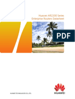 Huawei AR2200 Series Enterprise Routers Data Sheet