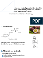 Passion Fruit by-product and Fructooligosaccharides Stimulate the Growth of Probiotics