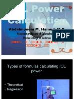 Minimizing Wrong IOL Calculation