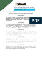 Decreto 10-2004 Reformas a la Ley Electoral y de Partidos Políticos