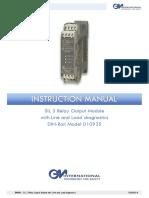 Manual de equipo de control
